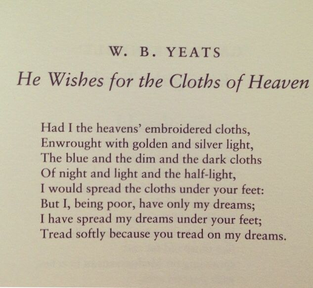 the cloths of heaven - Google Search