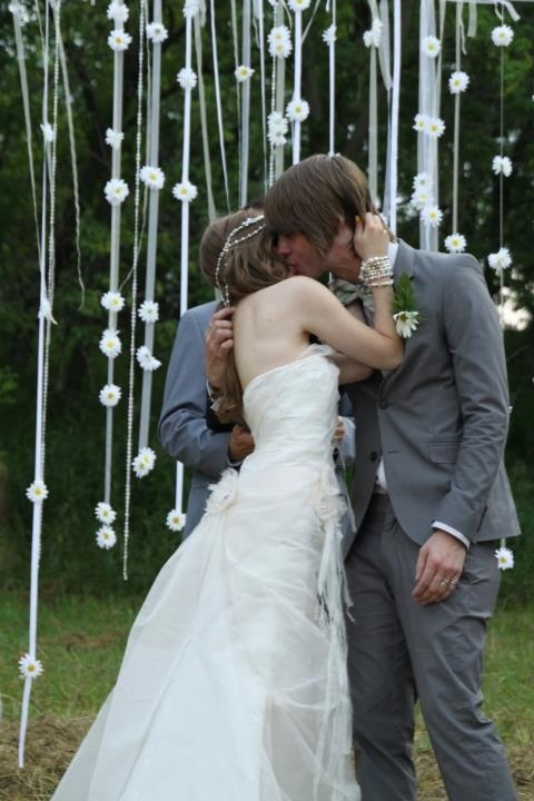 I want an outside wedding with lots of hanging down streamers and stuff. Especially white lights in the trees once-upon-a-time