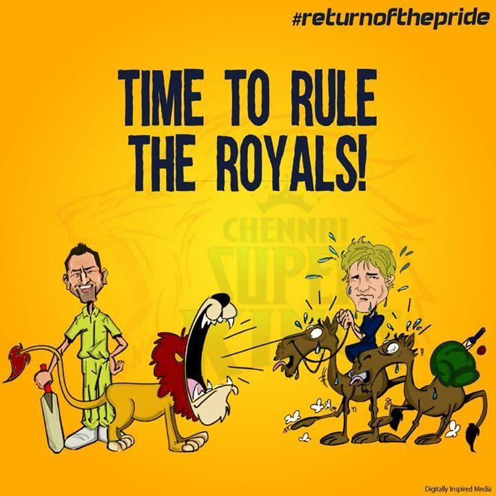 IPL Campaign- #whistlepodu #returnofthepride #csk #WeAreTheRoyals #RR #IPL7