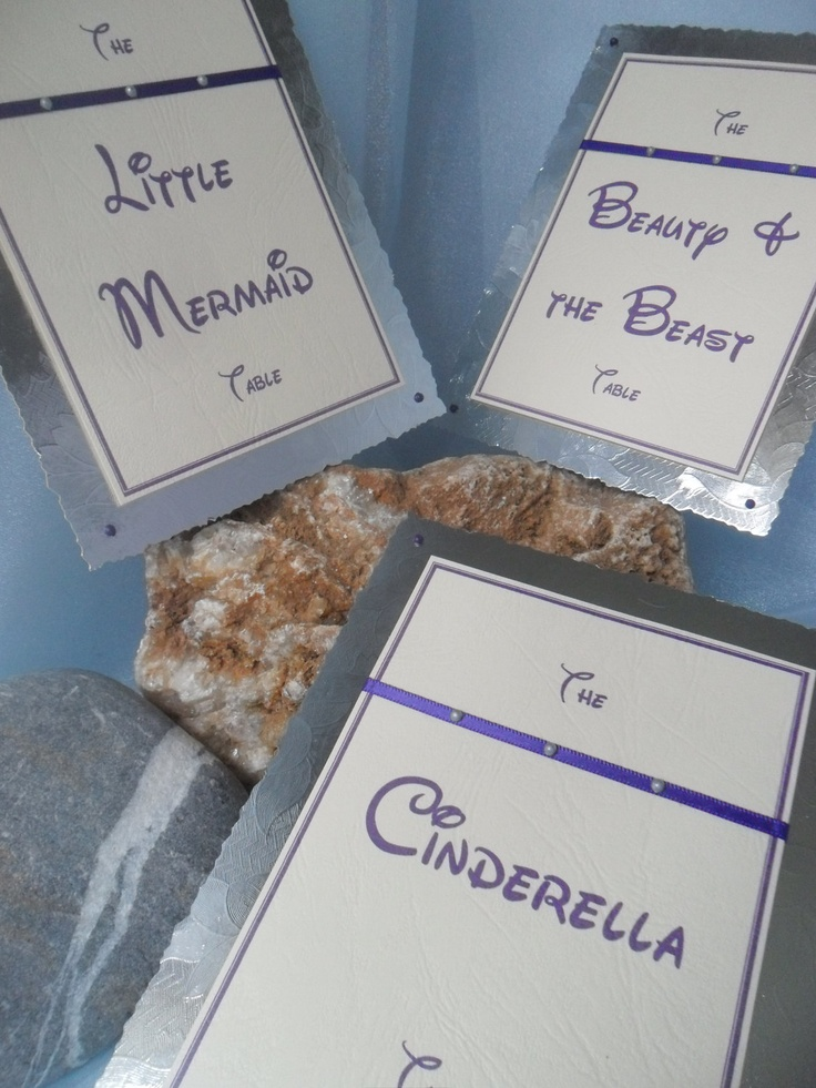 Disney Themed Weddingquince Table Names or Numbers