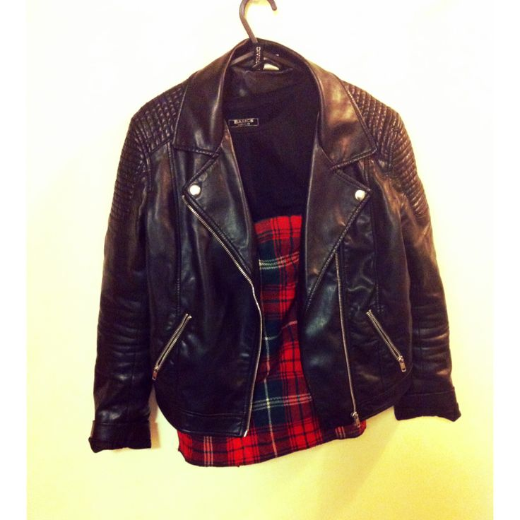 outfit plan// style// biker// tartan// leather