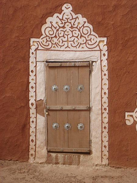 Africa |  A decorative door in Oualata.  Mauritania |  © Kurt Dundy