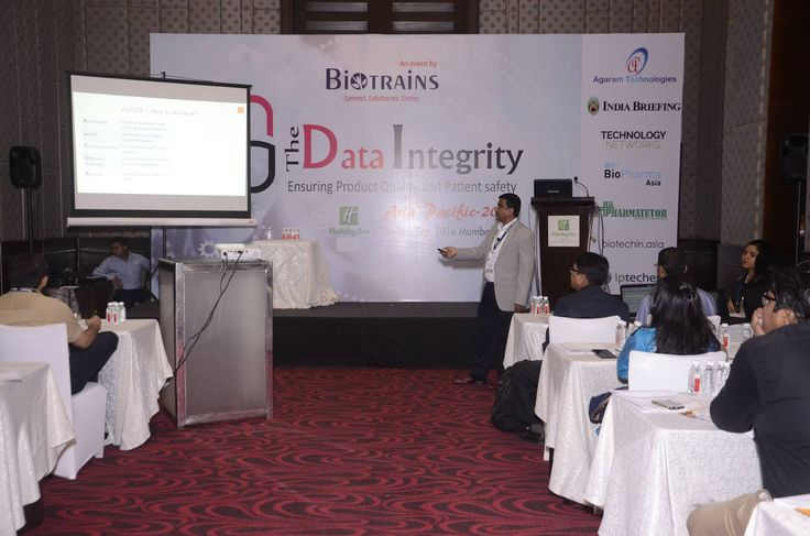Automation - Way Forward to Achieve Data Integrity  A much appreciated session presented by Mr. Mukunth(CEO) of Agaram Technologies at the Data Integrity conference held at Mumbai on Sep.1st & 2nd 2016.
