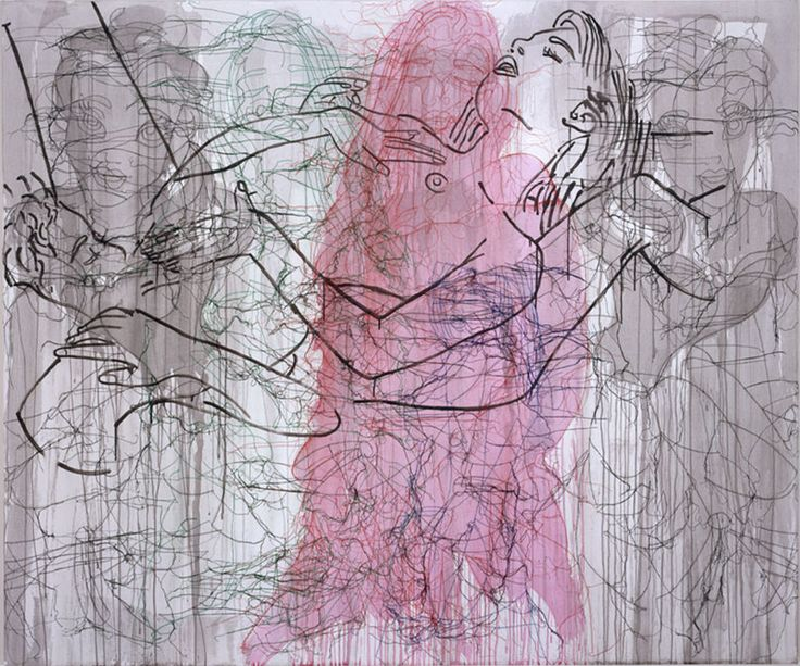 AND THE BEAST - GHADA AMER, 2004