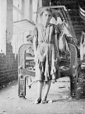 """Textile mill worker named """"Mary"""" , in a mill somewhere in the USA around 1906"""