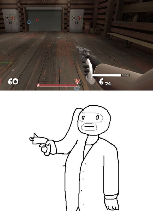 first-person shooter game