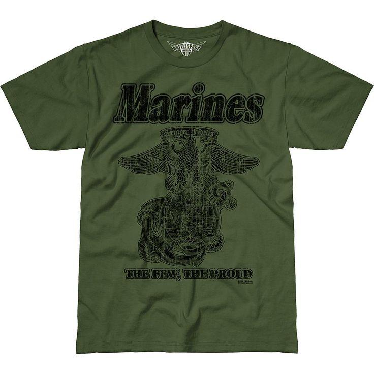 USMC 'Retro' 7.62 Design Battlespace Men's T-Shirt Military Green