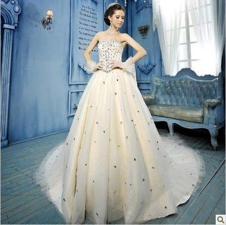 High-end luxury Diamond bride wedding dress! http://www.alsotao.com/product/22405236896/taobao?sell=21