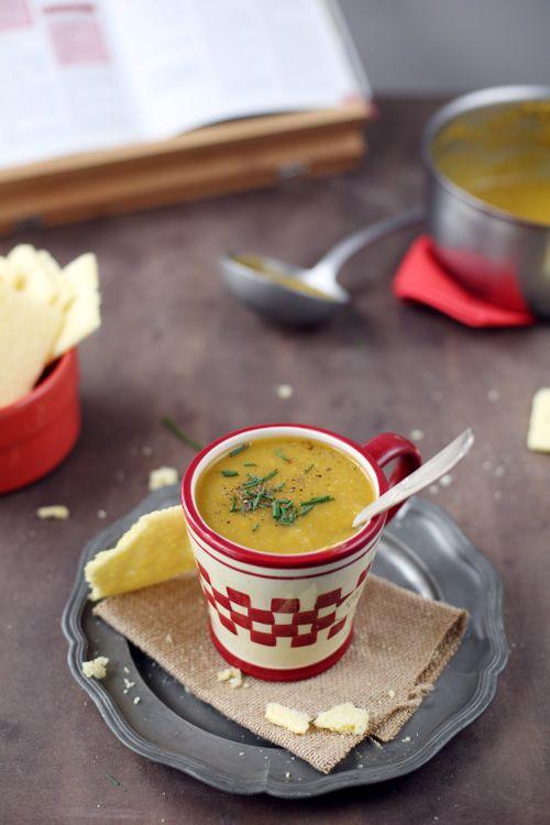 Velouté de patate douce et haricots verts