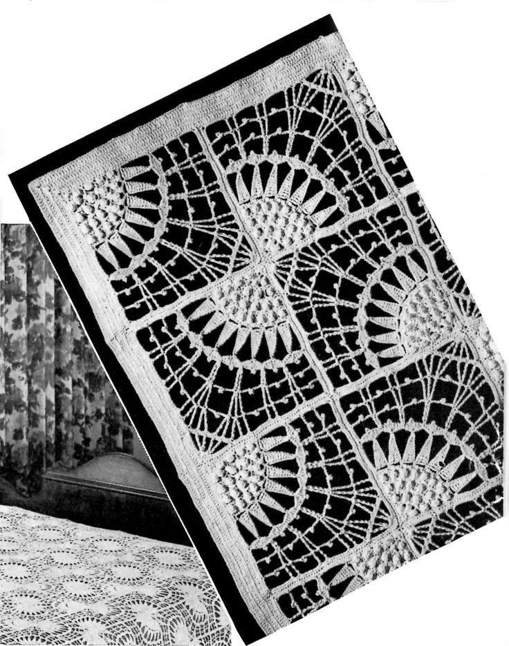 296 Best Crochet Bedspreads Blankets Images On Pinterest Crochet