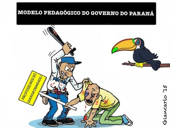 Proposta Pedagógica do Governo do Paraná... PORRADA!!!...