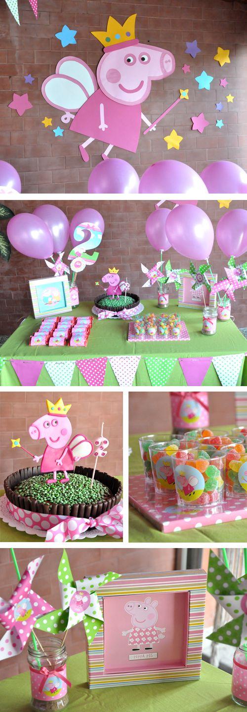 cumpleaos infantil peppa pig princesa
