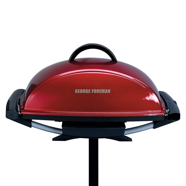 George Foreman GFO201R Indoor/Outdoor Electric Grill, Red ** Want to know more, click on the image.