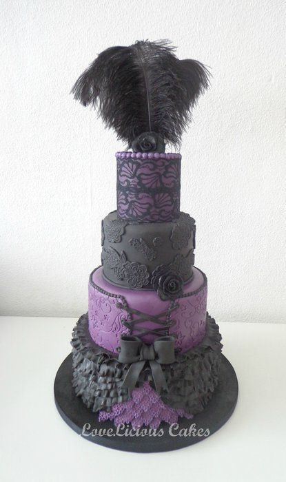 Burlesque wedding cake from love.licious cakes on cake Decor.com