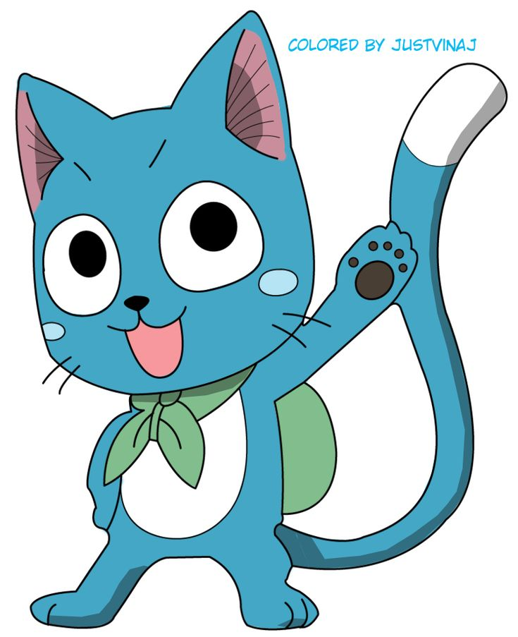 Happy The Cat from fairy tale | Image - Happy fairy tail by justvinaj-d5i0j8v.jpg - Fairy Tail Wiki