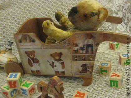"""Тачка-короб """"Плюшевые мишки"""" - Тачка,тачки,короб,короб для хранения,короб для игрушек"""
