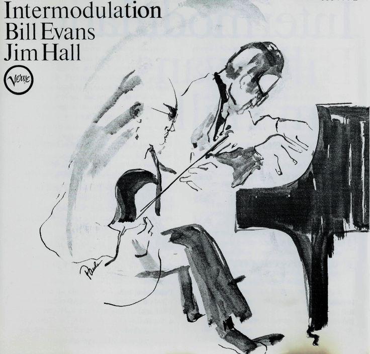 1966 Bill Evans  Jim Hall - Intermodulation [Verve V-8655] cover illustration by Paula Donohue #albumcover