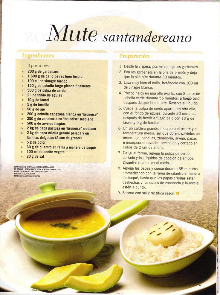 Receta Mute Santandereano de Mi Cocina Restaurante - Academia de Cocina Verde Oliva
