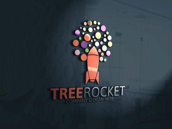 Tree Rocket Logo by Josuf Media on Creative Market