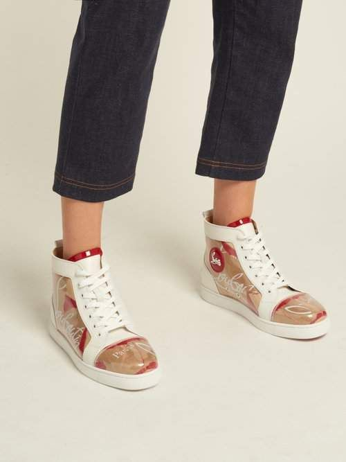 christian louboutin high top trainers
