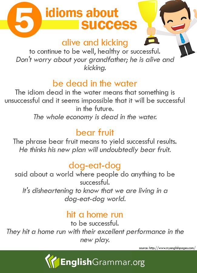 5 Idioms about Success