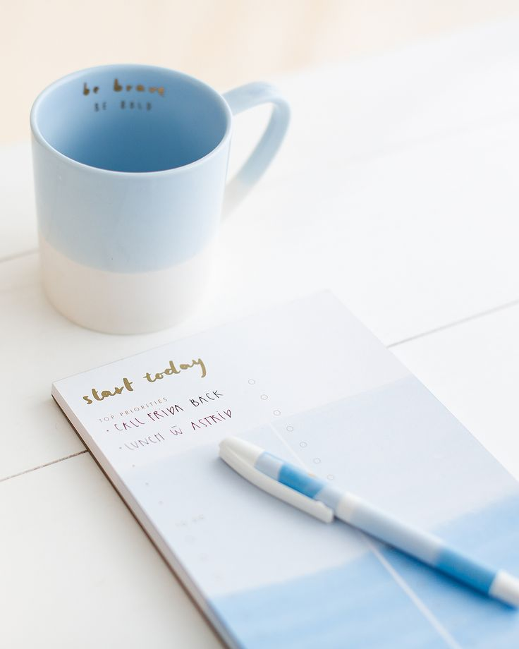 Start each day with positivity with this Daily Notes Pad and Mug