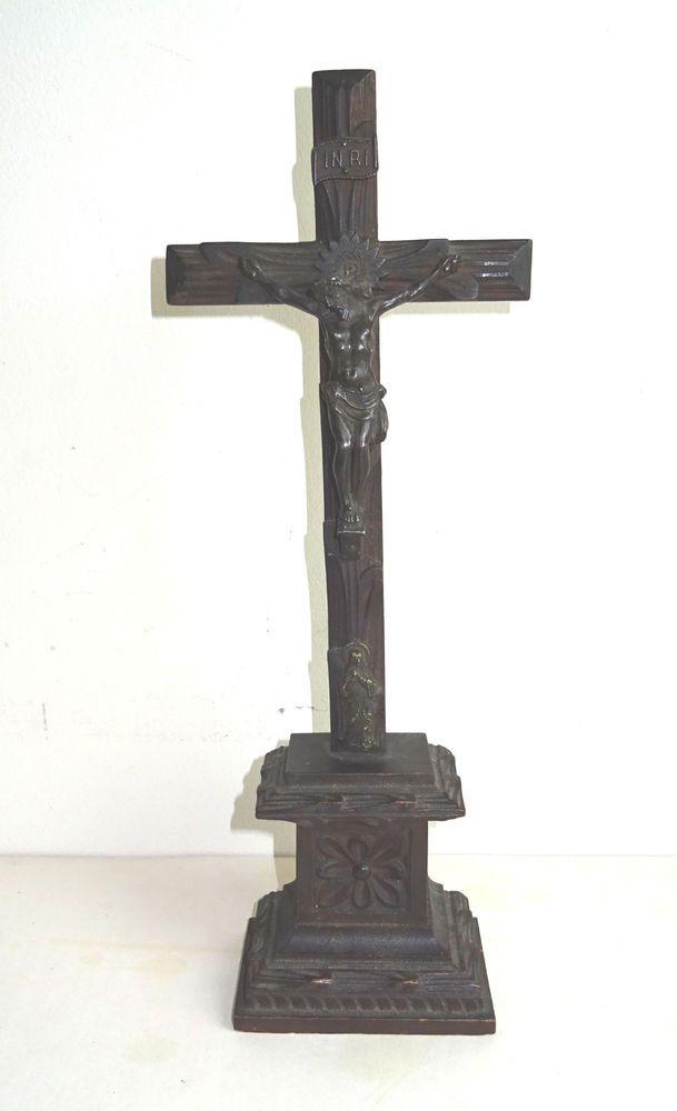 Gründerzeit Historismus Holzkreuz Christus um 1880 Kruzifix Skulptur Santo Jesus
