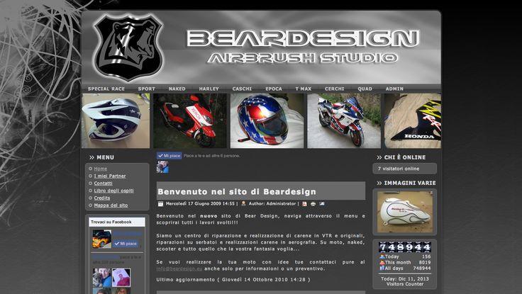 Beardesign, sito realizzato in joomla con grafica personalizzata