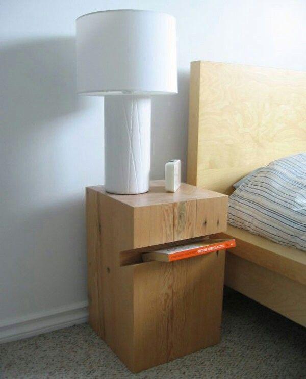Cool bedside table idea!