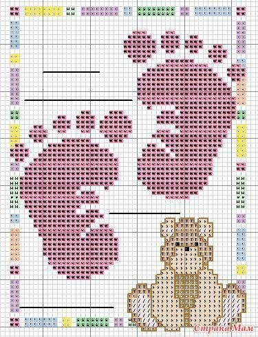 A nice simple sampler for the next one of my friends who has a baby...