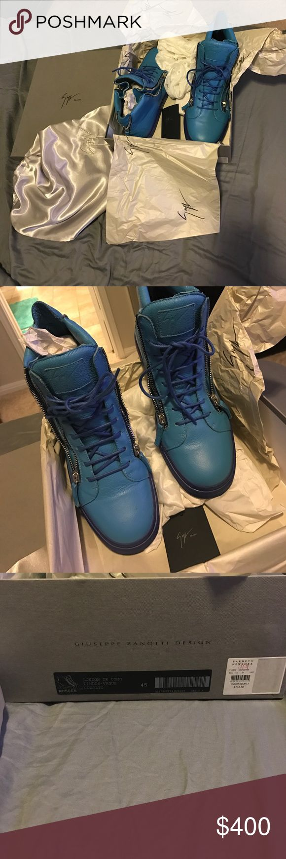 Men's Giuseppe Shoes I am selling a pair of gently used men's Giuseppe Zanotti shoes. They are authentic size 45. Comes with box and dust bags for each individual shoe. Giuseppe Zanotti Shoes