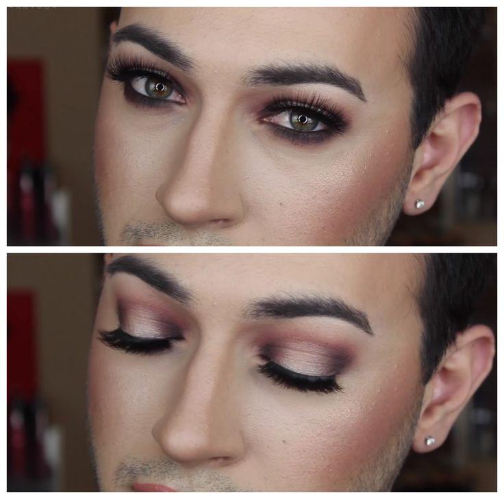 Warm, bronze eye makeup; manny mua