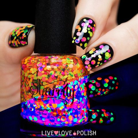 Starrily: ⭐ Gumballs ⭐ ... A multicolored glitter topper that has an awesome look under black light!