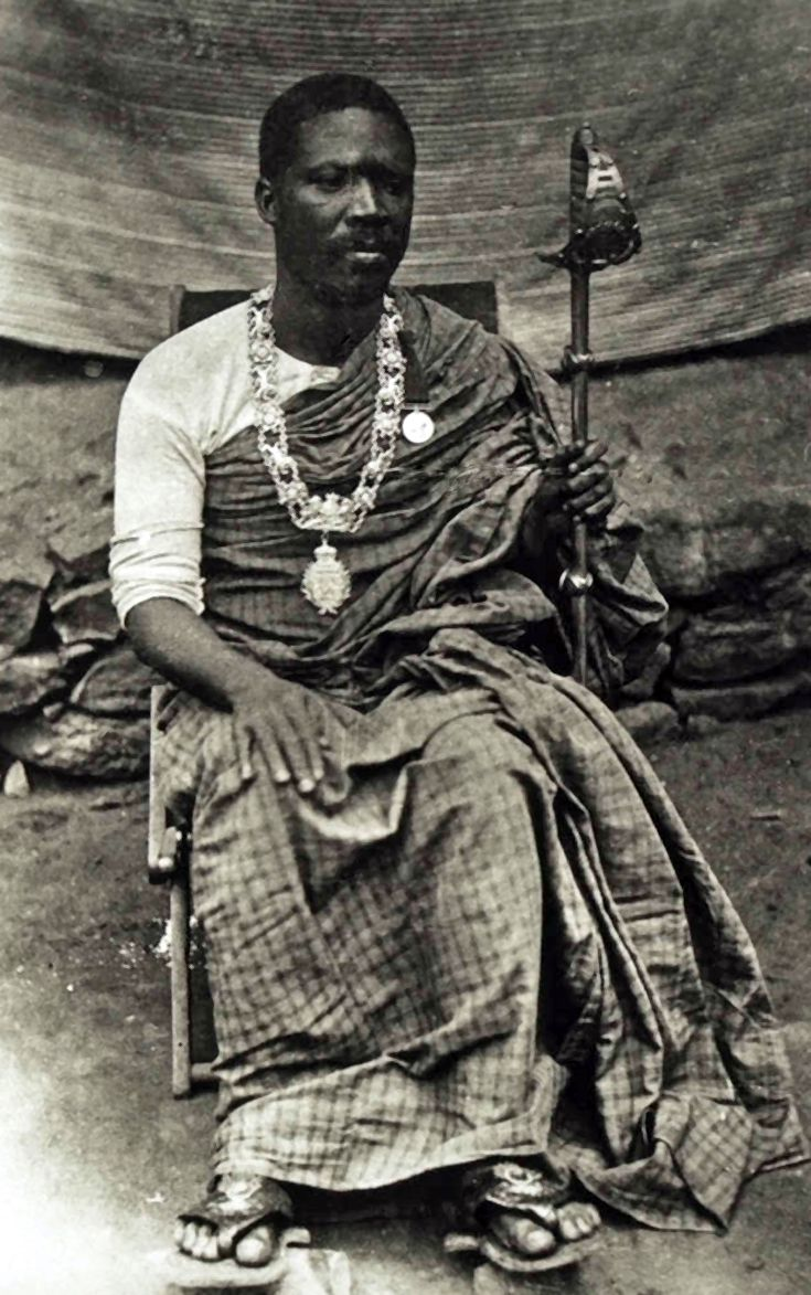 "Africa | ""King Mate Kole of East Krobo."" Gold Coast / Ghana. July 1892 