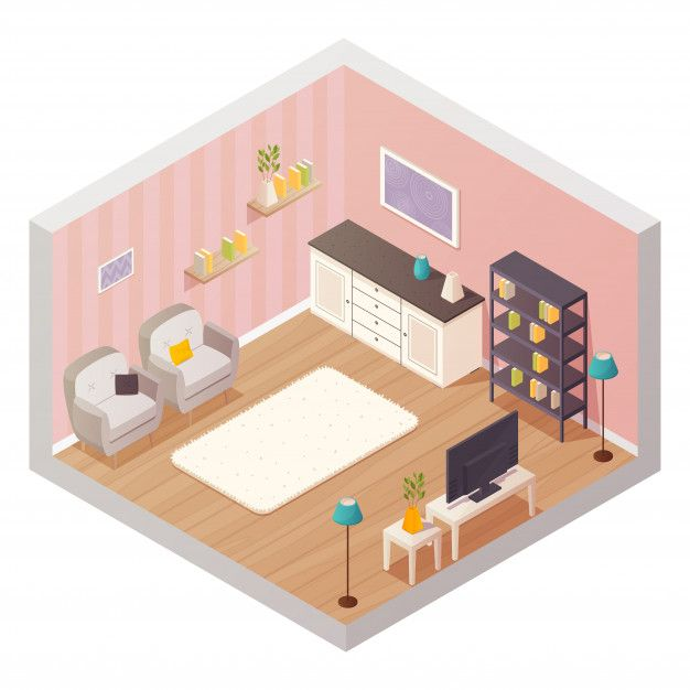 Download Isometric Living Room Interior Design Composition With Cartoon Icons For Free In 2020 Room Interior Living Room Interior Composition Design