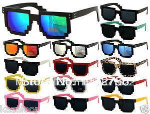 Minecraft процессора 8 бит Pixel Wayferer Pixelated мастер Novlety Солнцезащитные очки Винтаж леопардовый 214,30