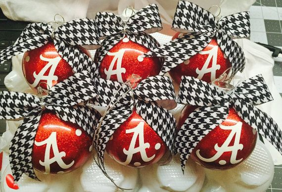 Alabama Christmas Ornaments set of 6 by sweetcreations435 on Etsy