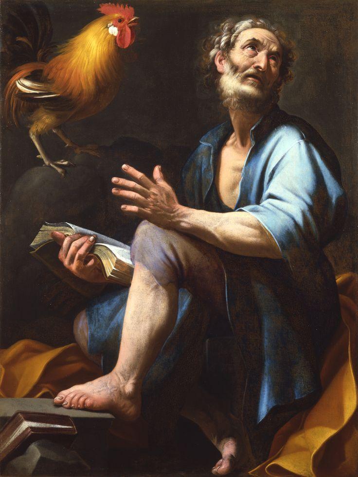 Giovanni Baglione-San Pietro col gallo ,Sabauda Gallery Torino, Italy