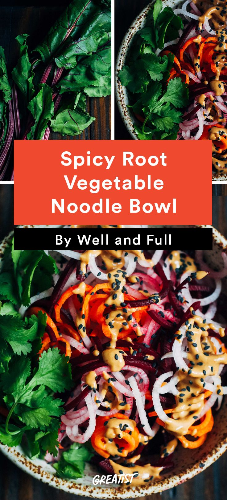 2. Spicy Root Vegetable Noodle Bowl #greatist http://greatist.com/eat/radish-recipes