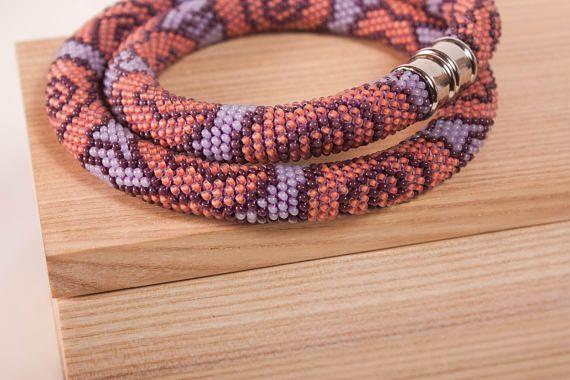 rose Necklace pink necklece purple necklace gift for her