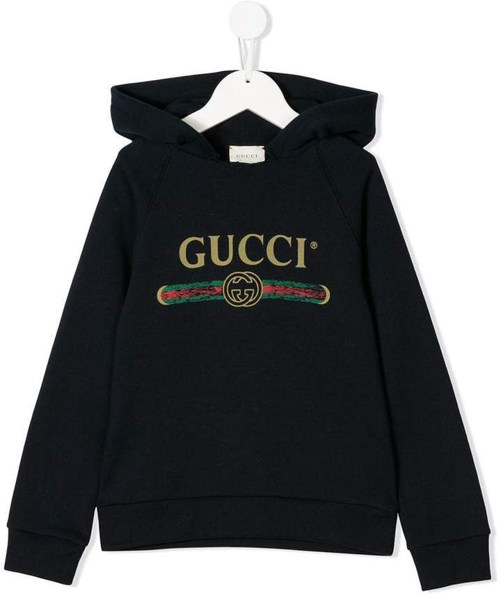 8306ba809 Gucci Kids vintage logo hoodie in 2019 | Gucci baby girl | Gucci ...