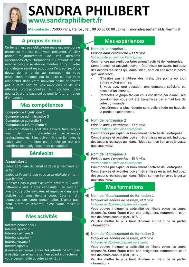 pack cv et lettre de motivation vert modifiable pour 5 99