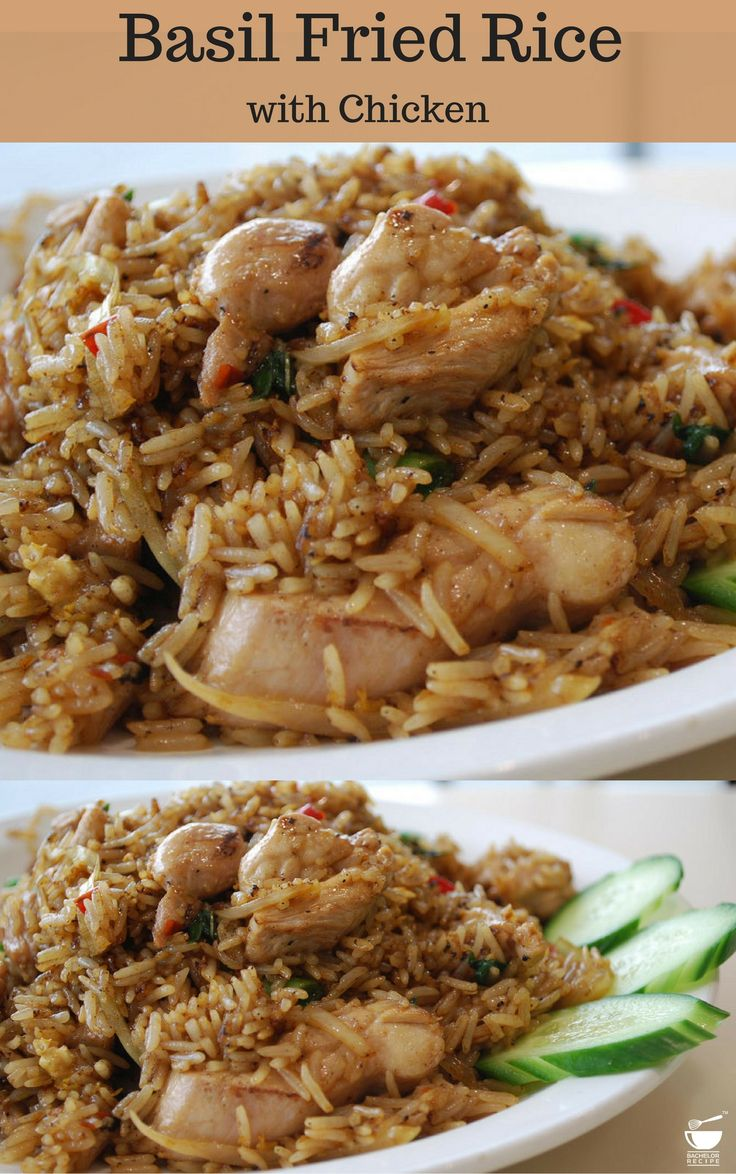 Make this fried #rice by using #leftover rice and #chicken pieces.- Bachelor Recipe.