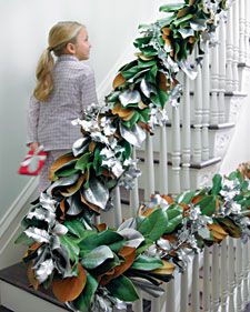 Deck the halls with our unique holiday garlands to add a spirited touch to your surroundings.Christmas Wreaths, Christmas Decor Ideas, Silver Magnolias, Diy Crafts, Magnolias Leaves, Martha Stewart, Christmas Garlands, Magnolias Garlands, Christmas Ideas