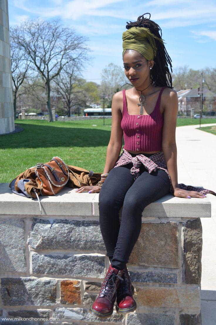 "milkandhonney:  Tene'A, Fashion Merchandising, Morgan State UniversityStyle Inspirations: ""Erykah Badu, Solange, Trae Harris and any Neo Soul artist."""