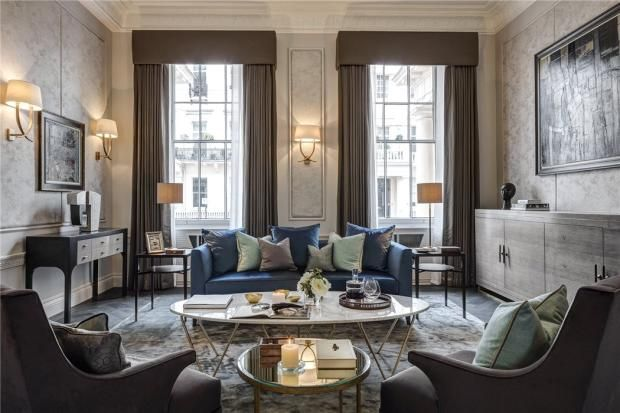 This larger than average 4 bed en-suite in excess of 3000sqft stucco fronted maisonette is on the prestigious end of Eaton Place.London, SW1X. Asking GBP 8.7m (2016).