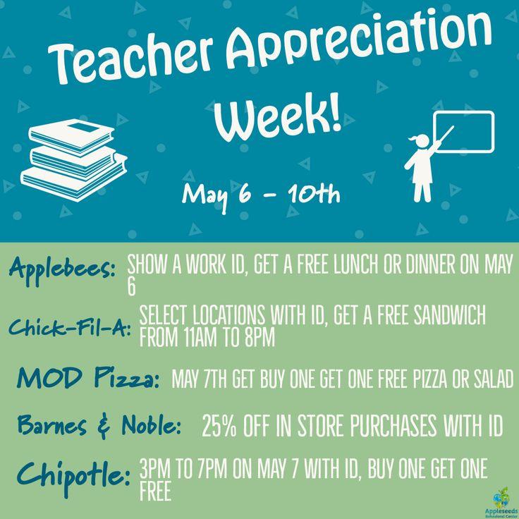 Its teacher appreciation week appleseeds behavioral