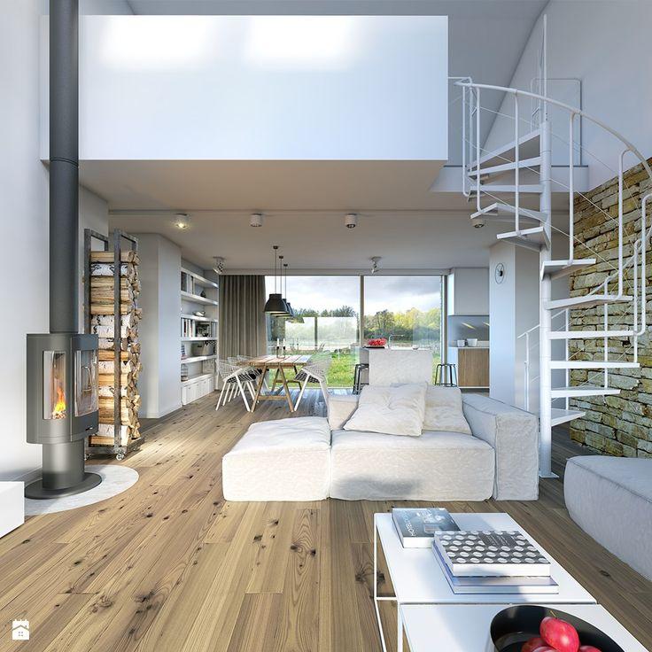Salon styl Minimalistyczny - zdjęcie od DOMY Z WIZJĄ - nowoczesne projekty domów…