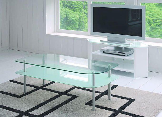 ガラストップリビングテーブル ホワイト(ローテーブル)【HOME'S Style ...