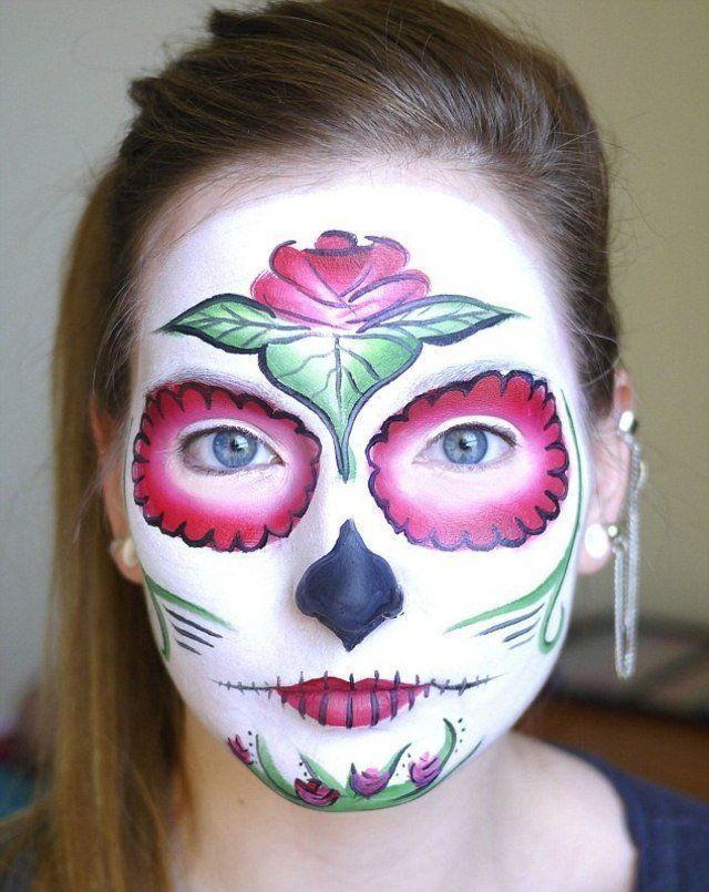 Les 25 meilleures id es de la cat gorie maquillage mexicain sur pinterest - Maquillage loup facile ...